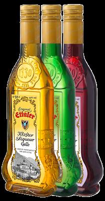 Liköre in Flaschen
